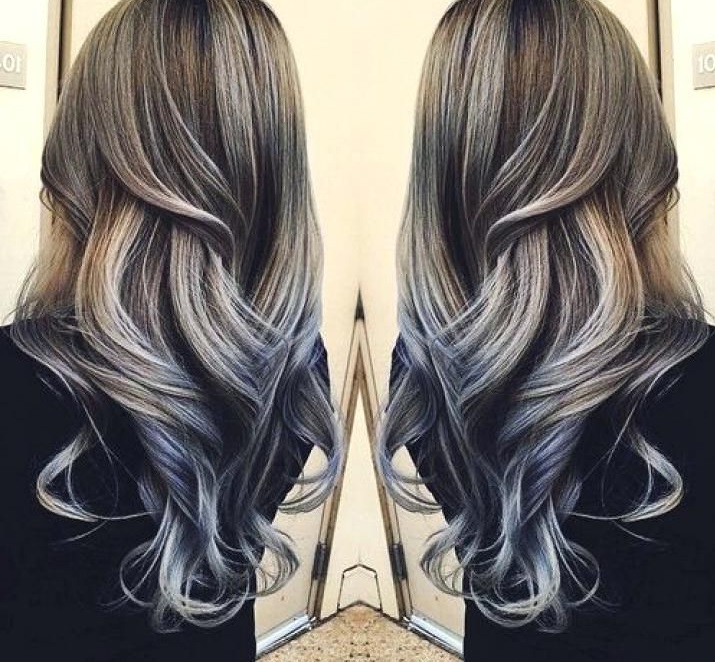 hair with silver highlights